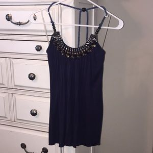 Navy holter top.